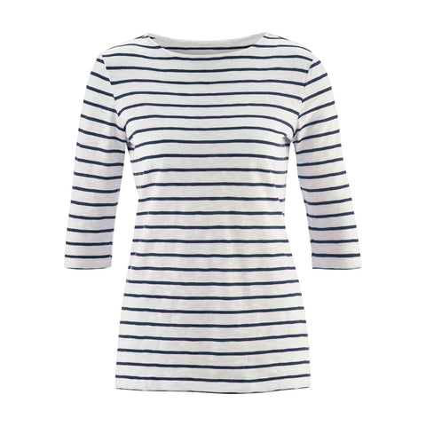 Chloe 3/4 Shirt Navy Stripe