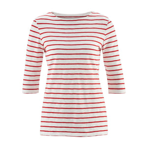 Chloe 3/4 Shirt Chili Stripe