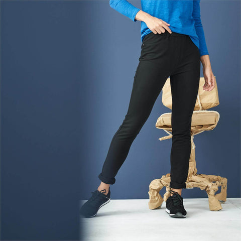 Slim Fit Trouser Legging Black