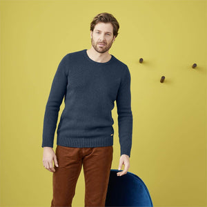Organic Cotton/Merino Wool Sweater Petrol