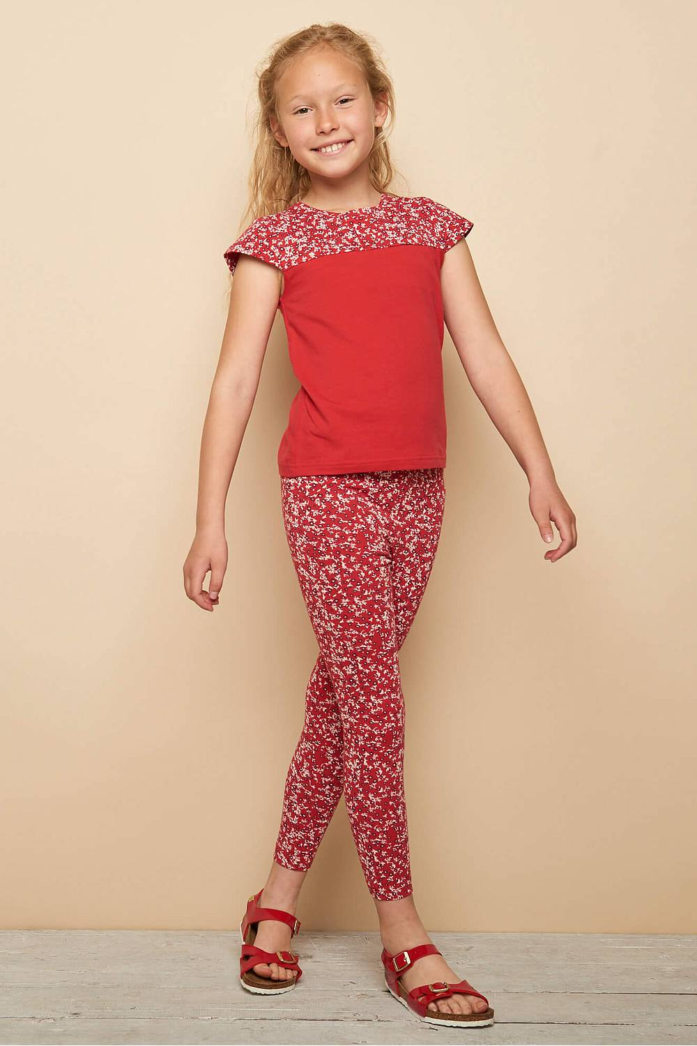 Jersey Leggings Koala - Red Florecita