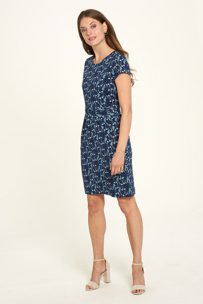 Organic Jersey Pocket Dress Botanical Blue