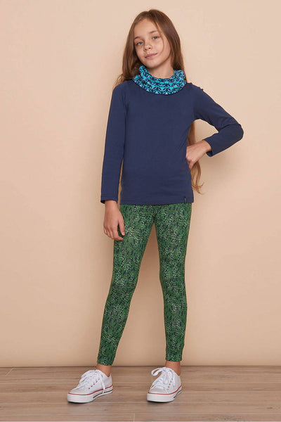 Jersey Leggings Koala Green Dots