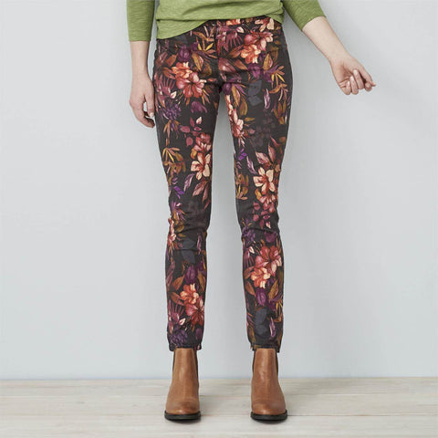 Jette Slim Fit Treggings Dark Flowers