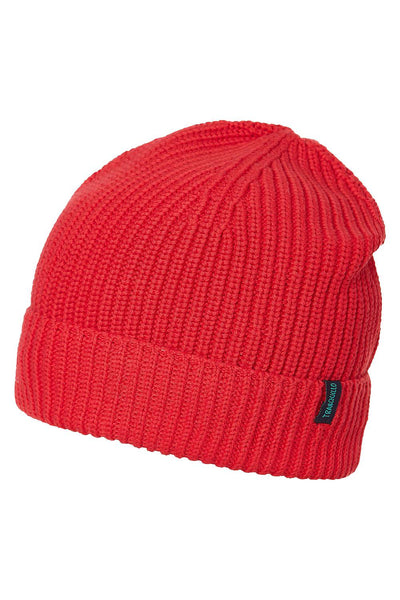 Organic Cotton Knit Beanie Red