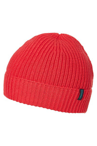 Kid's Organic Cotton Knit Beanie Red