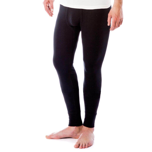 LC Mens Organic Cotton Long Undewear Pant Graphite Navy