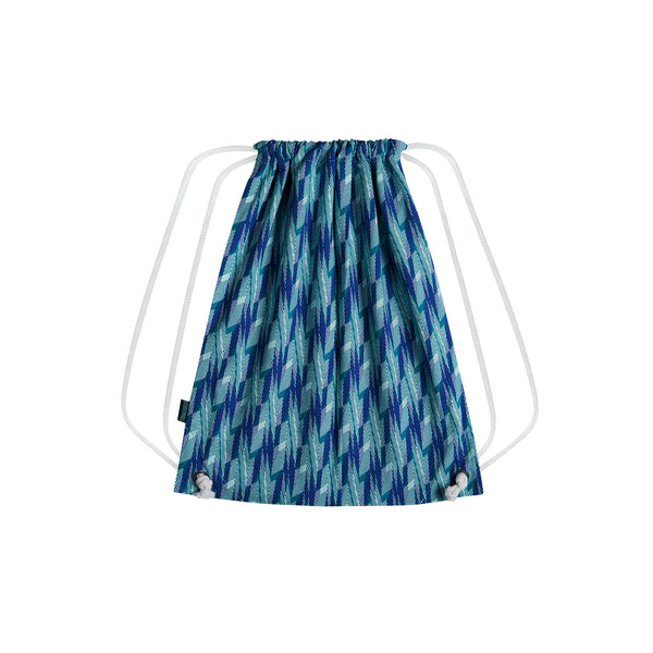 Drawstring Backpack Blue Candy