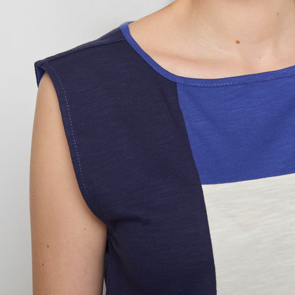 Colorblock Top Navy