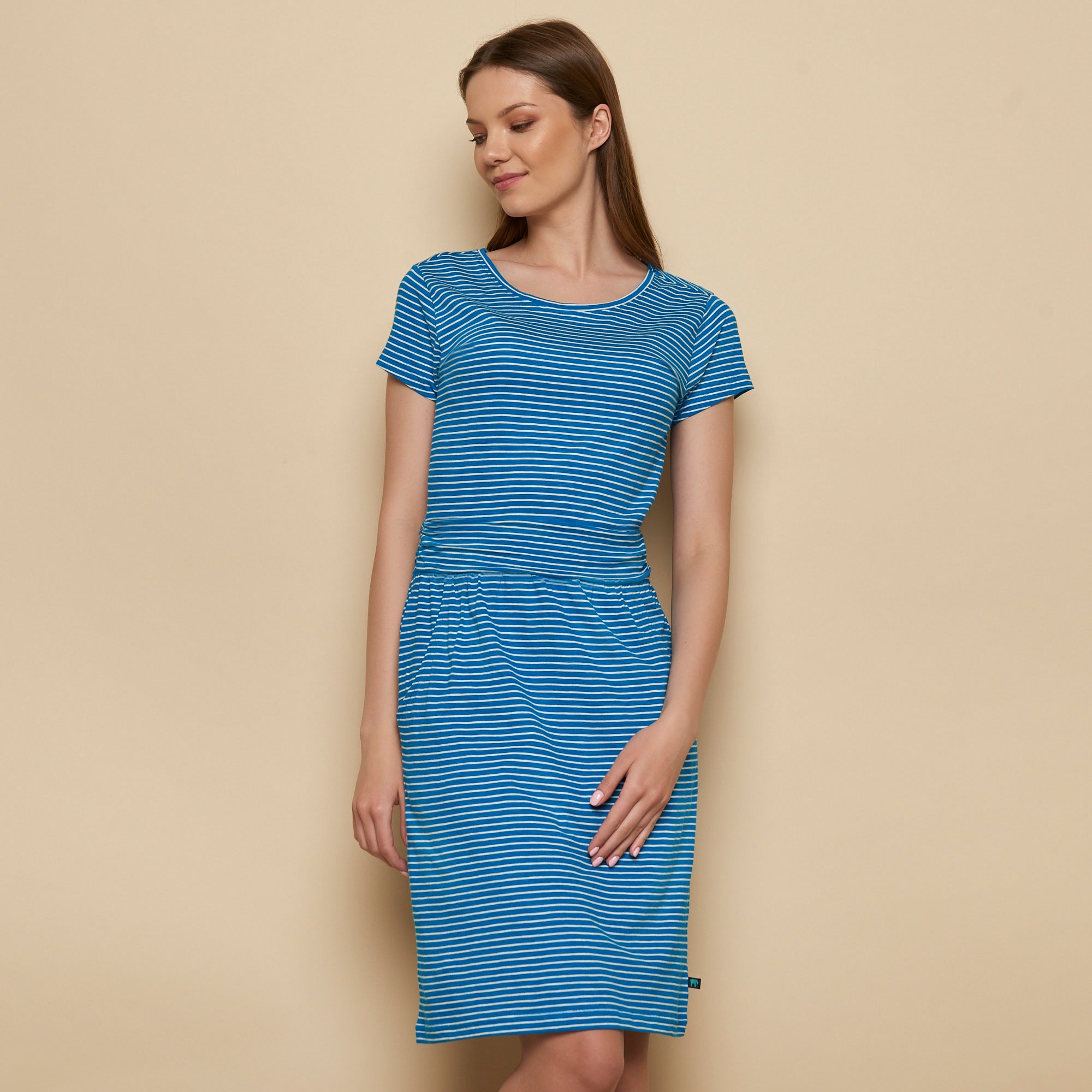 Striped Organic Jersey Pocket Dress