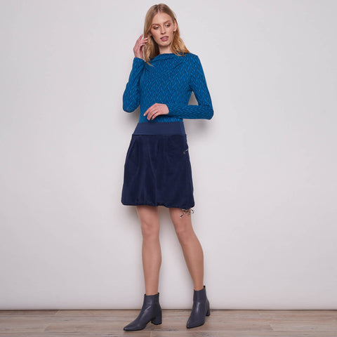 Cord Skirt Hanny Navy