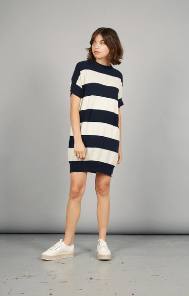 Victory Stripe Knit Dress