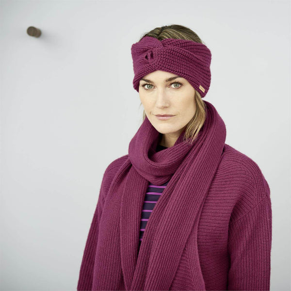 LC Organic Cotton and Wool Scarf Winter Pink