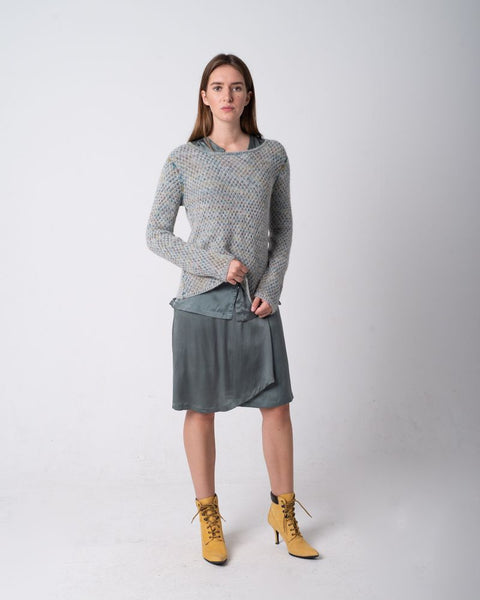Reversible Alpaca Sweater Opal