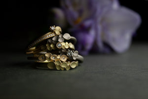 Dahlia 18ct Gold Rings Selection