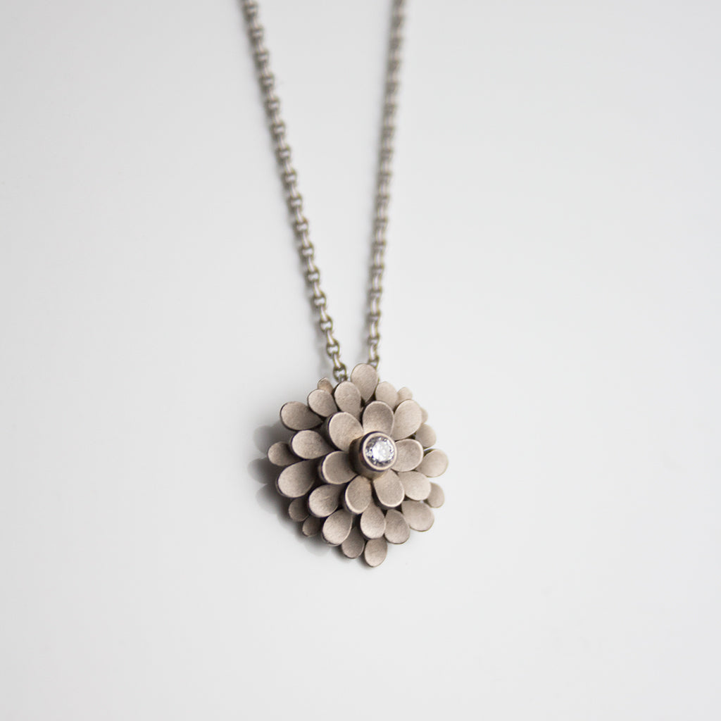 Dahlia 18ct. white gold and Diamond Necklace