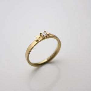Dahlia Bow 18ct. Gold Claw-set Diamond Ring