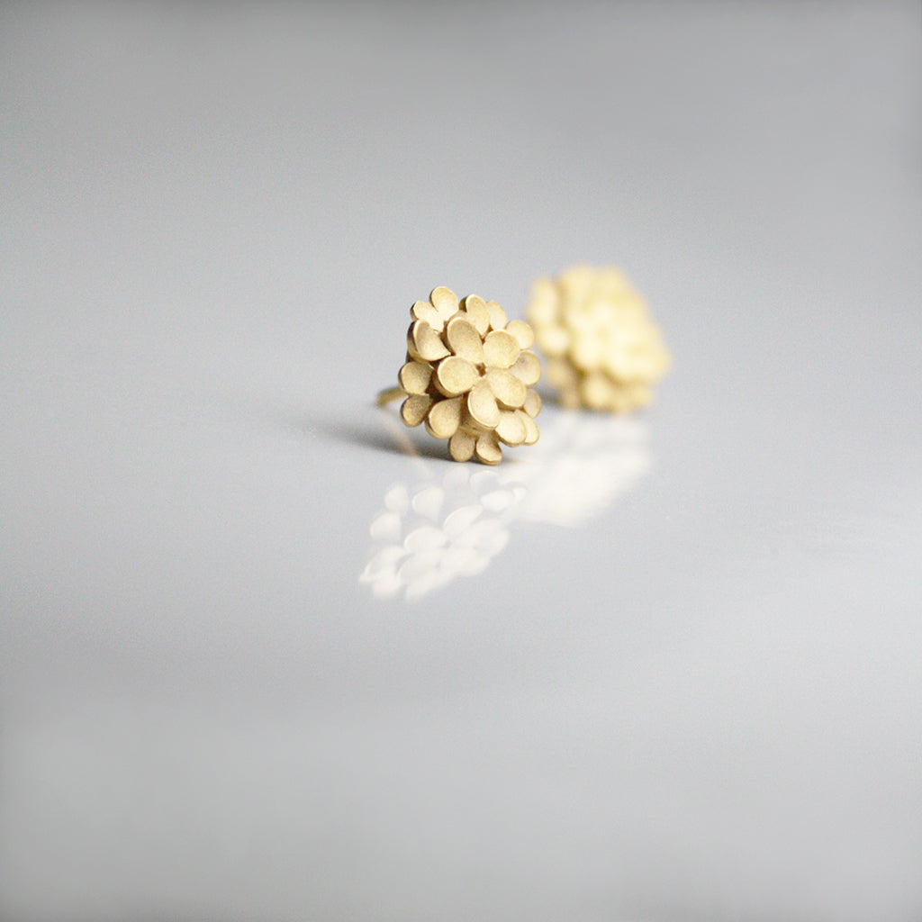 Dahlia Silver Gold-plated Earrings