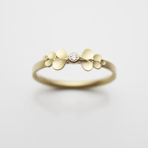 Dahlia Bow 18ct. Gold and Diamond Ring