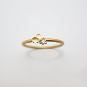 Dahlia Heart 18ct. Gold and Champagne Diamond Ring