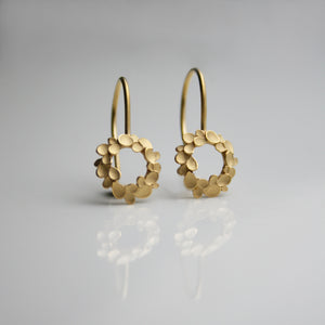 Floral Wreath small Silver gold-plated Drop Earrings