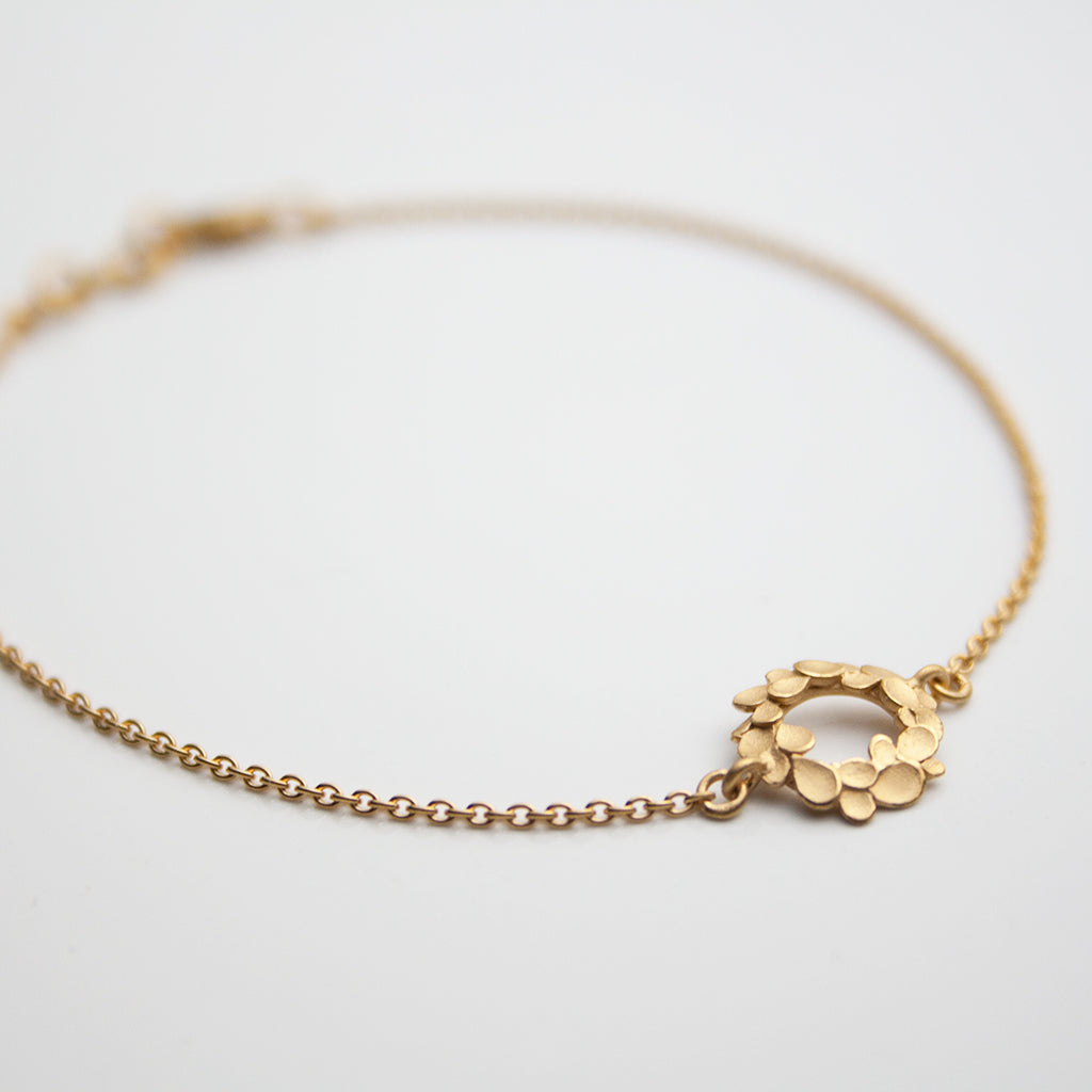 Floral wreath small Silver gold-plated Bracelet