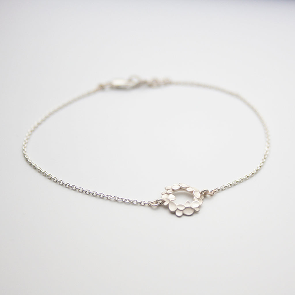 Floral wreath small Silver Bracelet