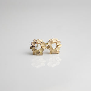 Floral wreath 18ct. Gold tiny studs
