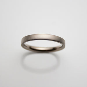18ct. white Gold Mens Band 3mm