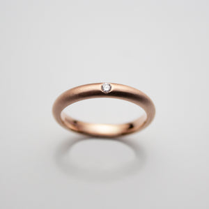9ct. Rosegold and Diamond Wedding Ring