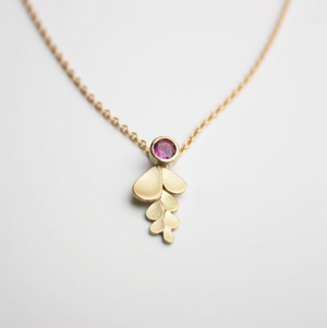 Wisteria 18ct. Gold and Ruby Necklace
