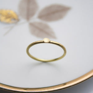 Dahlia single Petal 18ct. Gold Ring