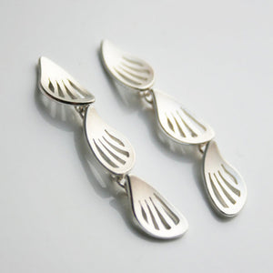 Wings Silver 3 link Earrings