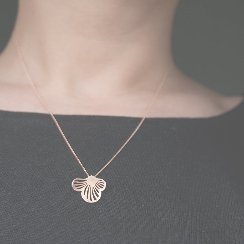 Flourish 9ct. Rose Gold Necklace