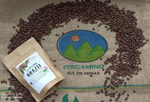 Brazil Pulped Nat. Parchment on de Minas 250 g