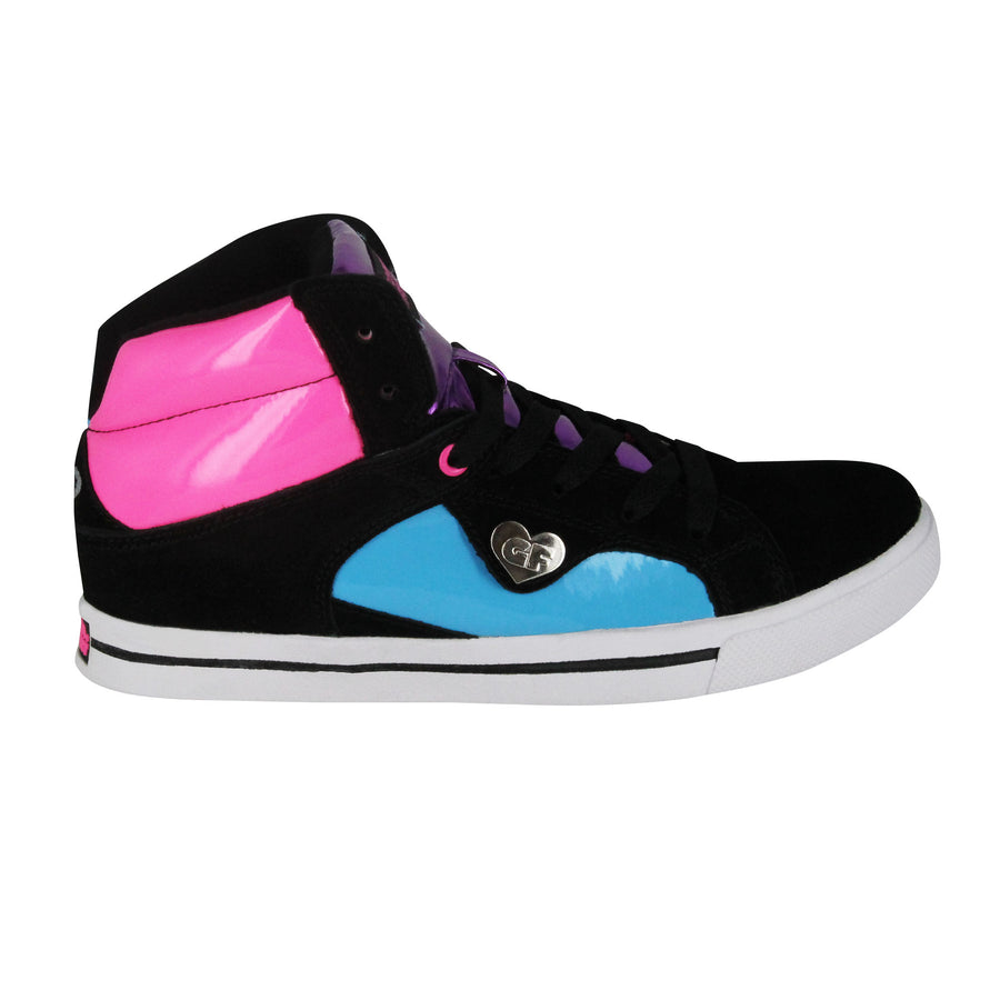 Gotta Flurt Women's Confused Plasma Black Leather Hip Hop Sneaker