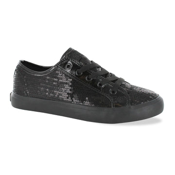Gotta Flurt Women's Disco II Full Black Sequin Dance Sneaker