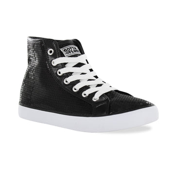 Gotta Flurt Women's Disco II Hi Black Sequin Dance Sneaker