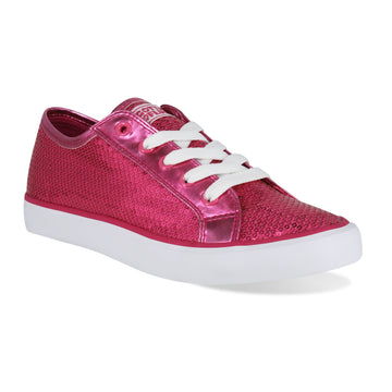 Gotta Flurt Women's Disco II Hot Pink Sequin Dance Sneaker