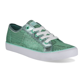 Gotta Flurt Women's Disco II Mint Sequin Dance Sneaker