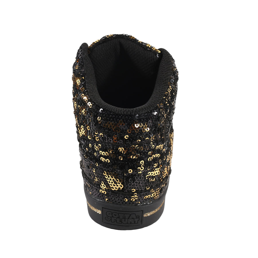 Gotta Flurt Women's Hip Hop II Black/Gold Dance Sneaker