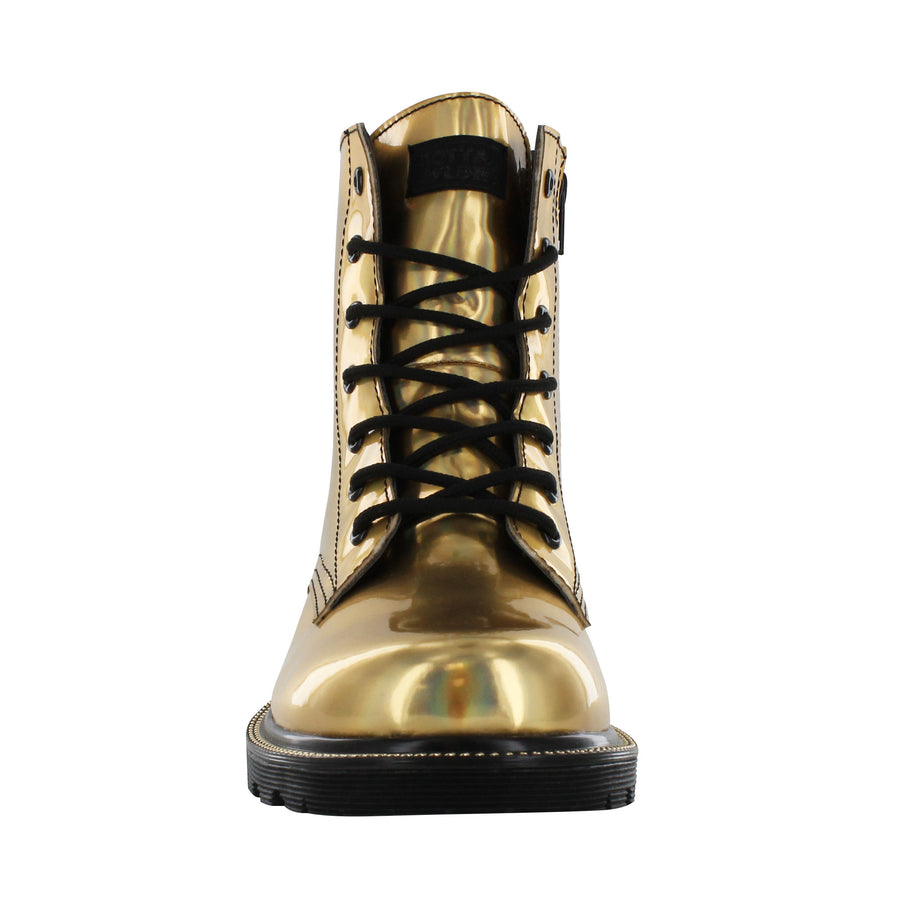 Gotta Flurt Women's Luna Gold Dance Combat Boot