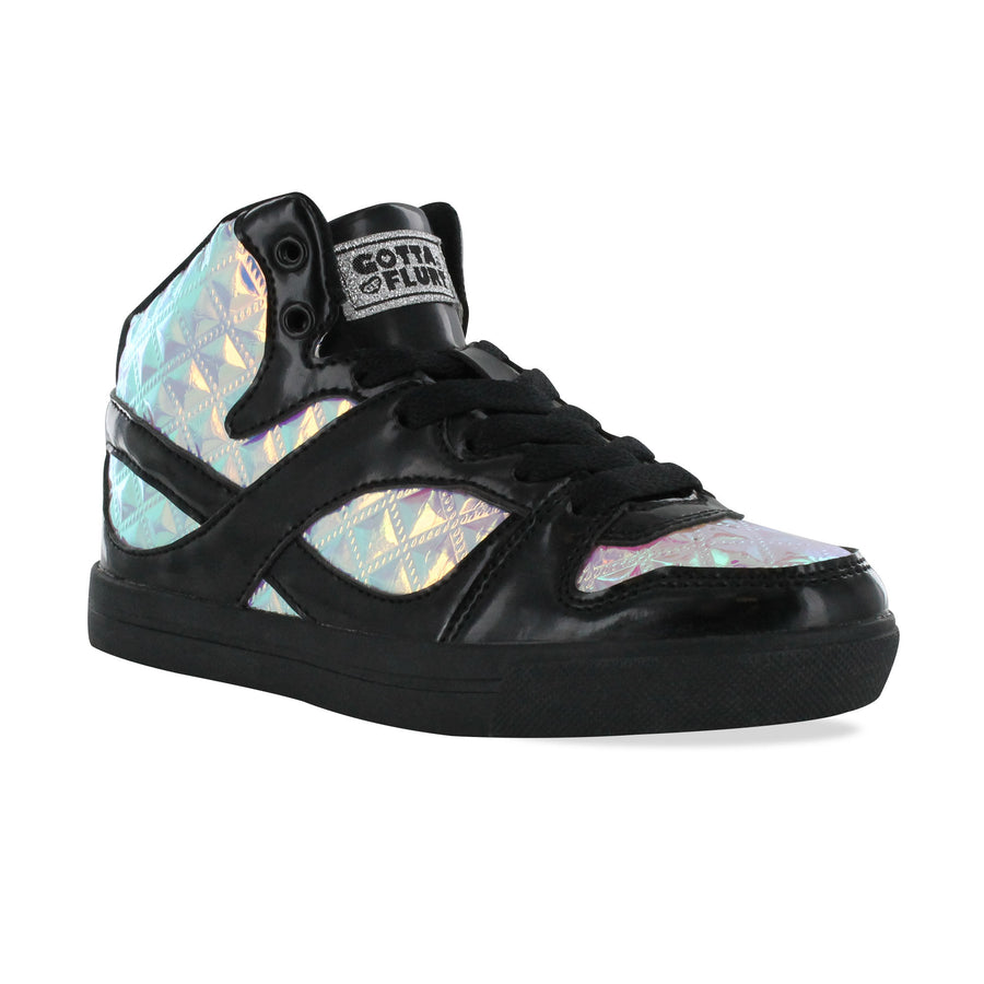 Gotta Flurt Girl's Slam III Black/Purple Dance Sneaker