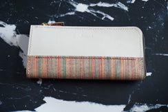 Wallet with dyed dyed w-no17