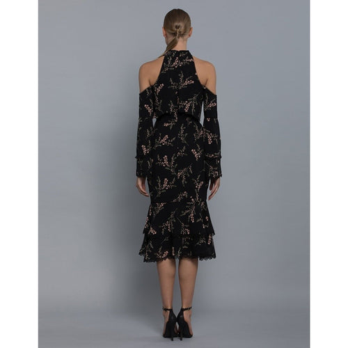 Nala High Neck Print Dress