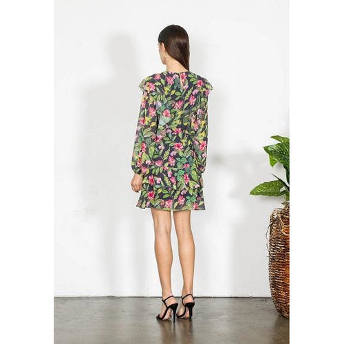 Element Floral Long Sleeve Dress