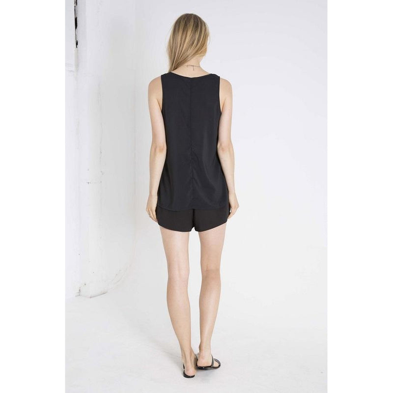Elousie Pocket Tank Black