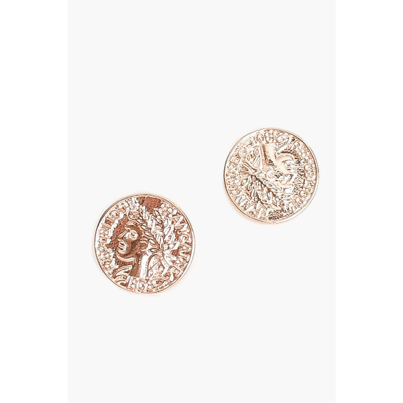 Wreath Coin Stud Earring Rose