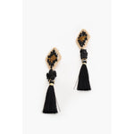 Beaded Weave Tassel Drop Earring