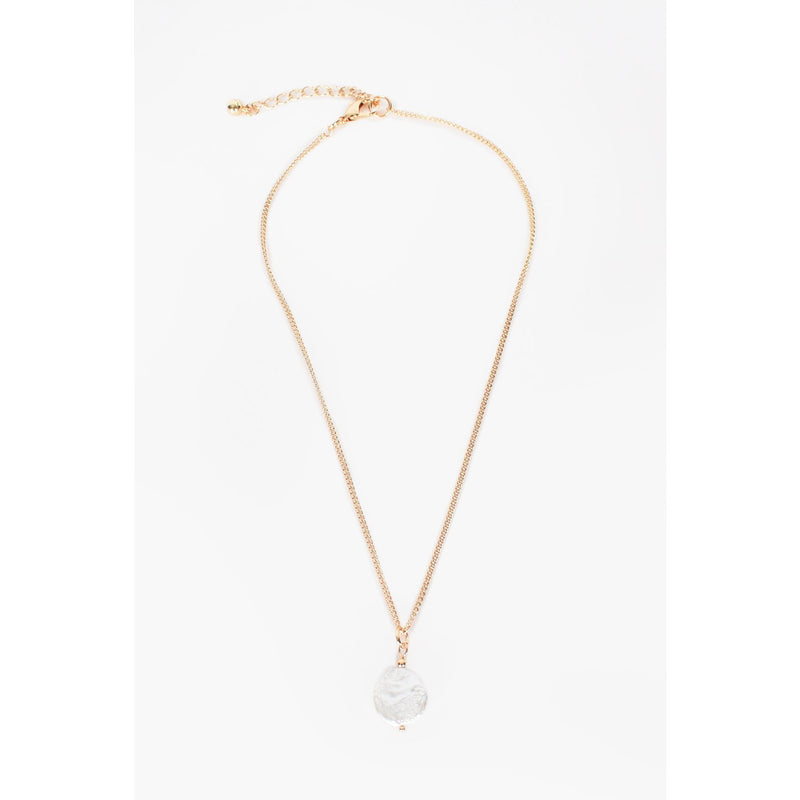 Simple Pearl Drop Layering Necklace Gold